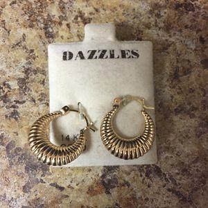 Dazzles | 14kt gold hoop earrings